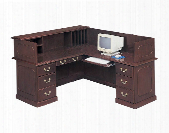 Traditional L Shaped Reception Desk By Dmi Office Furniture