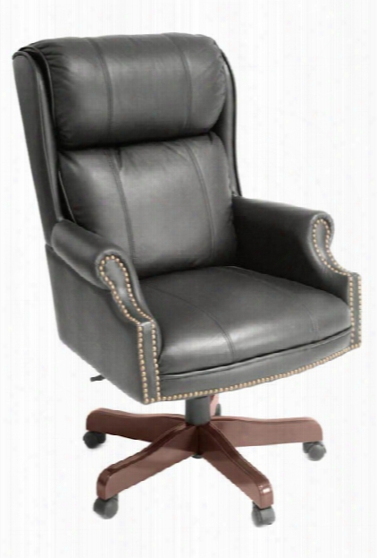 Traditional Style Leather Judges Chair By Regency Furniture