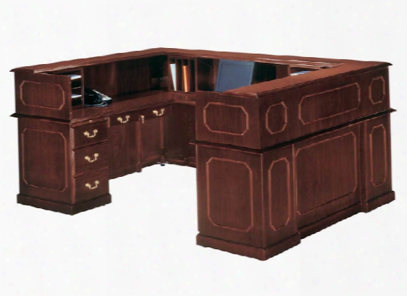 Traditional U Shaped Reception Desk By Dmi Office Furniture
