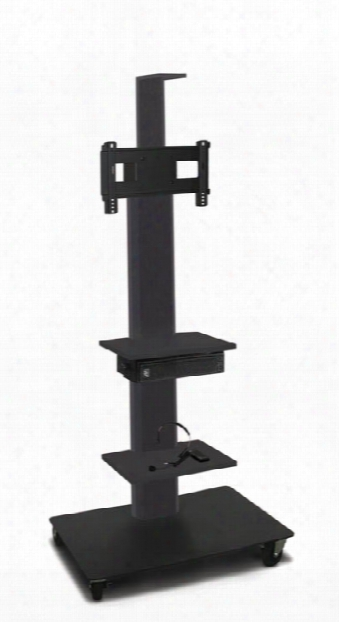 """Tv/monitor Stand And Mount With Two Equipment Shelves, Camera Shelf, And Amplivox Headset Microphone (holds 26"""" - 32"""" Tv) By Marvel"""