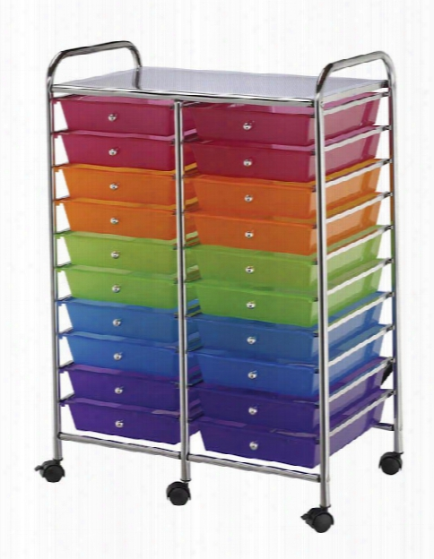 Twenty Drawer Storage Cart By Alvin