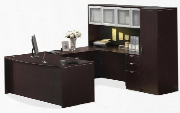 U Shaped Desk With Hutch And Storage By Office Source