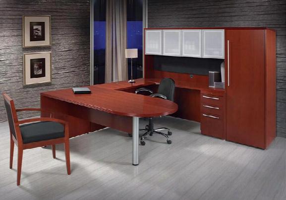 U Shaped Desk With Hutch By Rudnick
