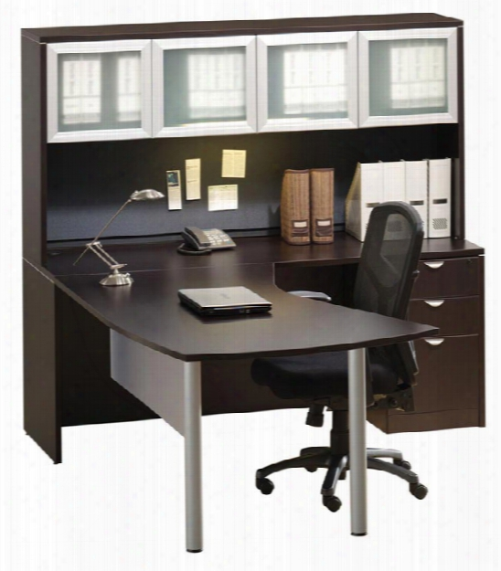 Vector Top L Shaped Desk With Hutch By Office Source
