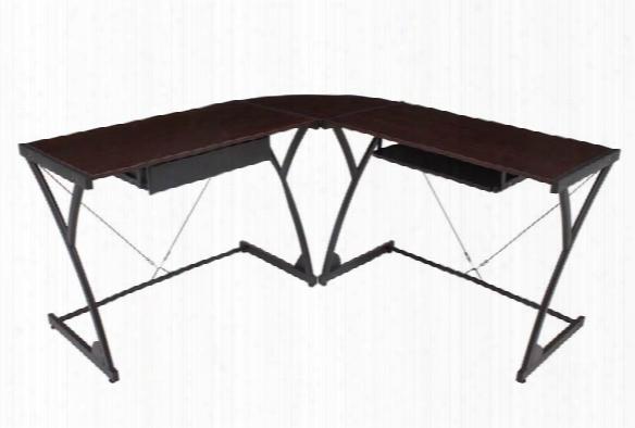 Wood Corner L Shaped Desk By Regency Furniture