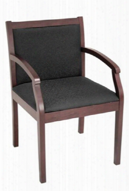 Wood Guest Chair With Arms By Marquis