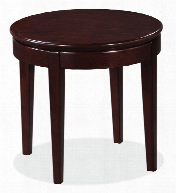 Wood Veneer Round End Table By Office Source