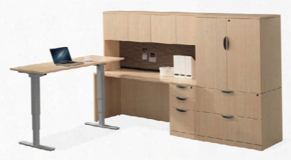 Workstation With Adjustable Height Desk By Office Source