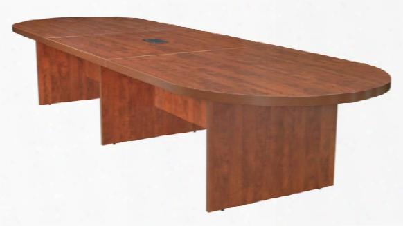 14' Modular Racetrack Conference Table With Power Data Grommet By Regenc Furniture