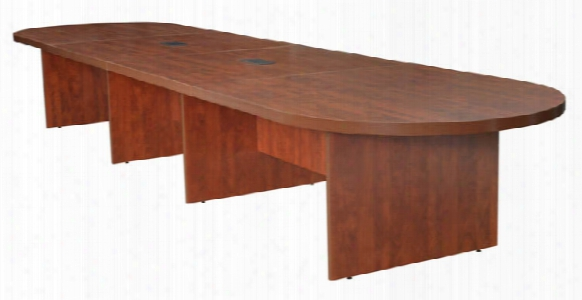 18' Modular Racetrack Conference Table With 2 Power Data Grommets By Regency Furniture