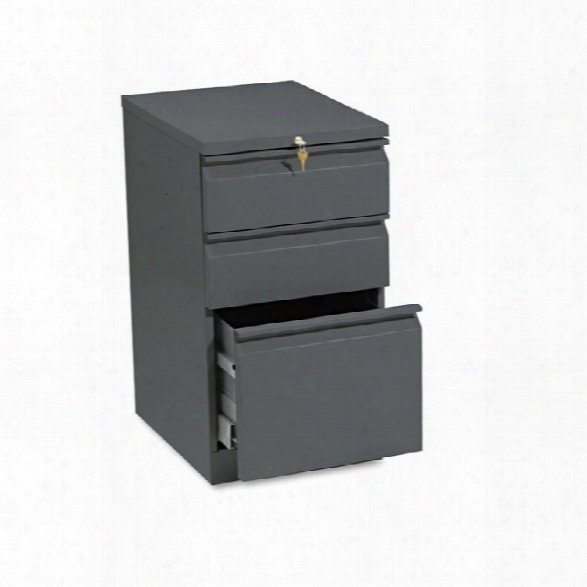 "19-7/8""d Efficiencies Mobile Pedesta File W/one File/two Box Drawers By Hon"