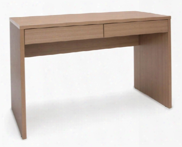 2-drawer Solid Panel Desk By Essentials
