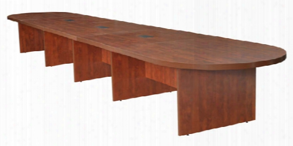 22' Modular Racetrack Conference Table With 3 Power Data Grommets By Regency Furniture