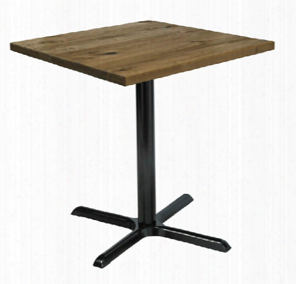 "30"" Square Vintage Wood Counter Table By Kfi Seating"