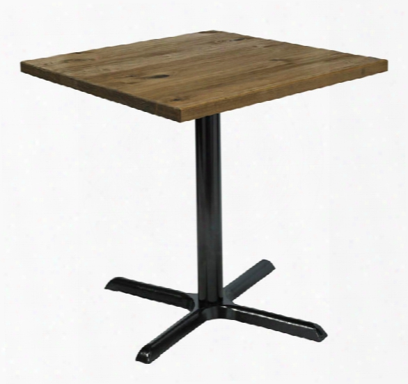 "30"" Square Vintage Wood Top Table By Kfi Seating"