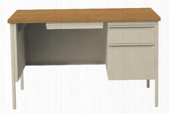 "30"" X 48"" Single Pedestal Desk By Hirsh Industries"