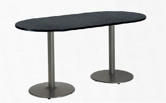 "30"" X 72"" Racetrack Pedestal Table By Kfi Seating"