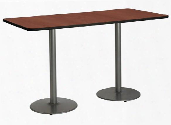 "30""x 72"" Pedestal Table By Kfi Seating"
