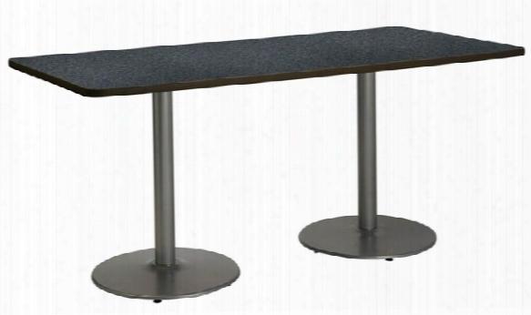 "36"" X 72"" Pedestal Table By Kfi Seating"