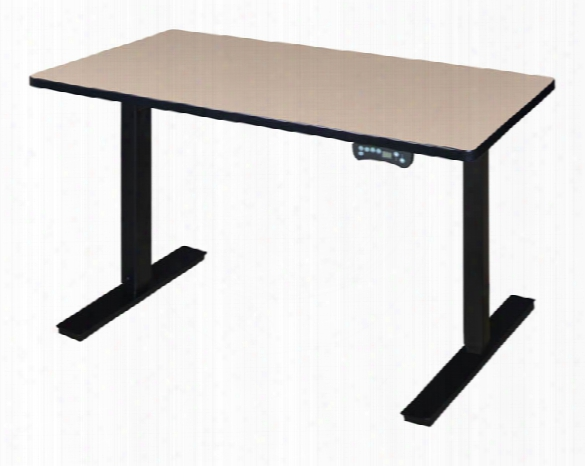 "42"" X 24"" Height-adjustable Power Desk By Regency Furniture"
