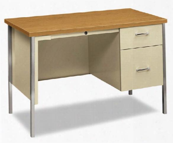 "45-1/4""w X 24""d X 29-1/2""h Right Pedestal Desk By Hon"