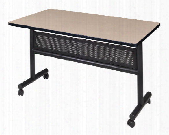 "48"" Flip Top Mobile Training Table With Modesty By Regency Furniture"