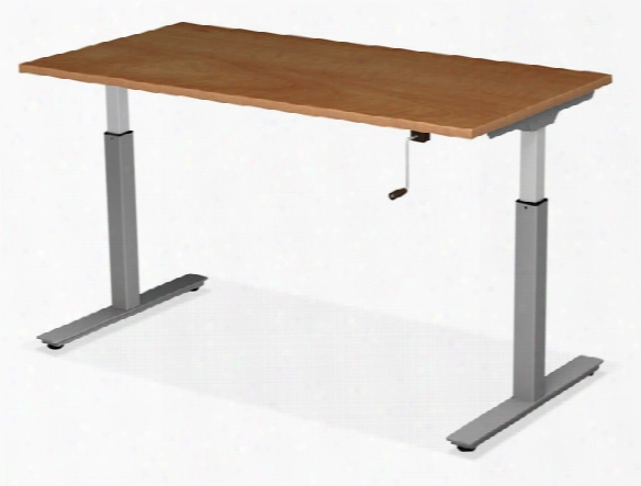 """48"""" X 24"""" Adjustable Height Table With Crank Lift Base By Office Source"""