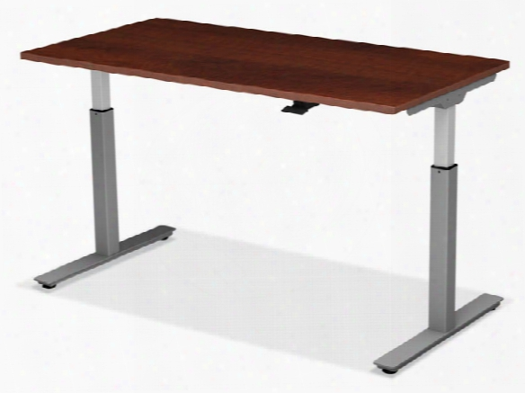 "48"" X 24"" Adjustable Height Table With Pneumatic Base By Office Source"