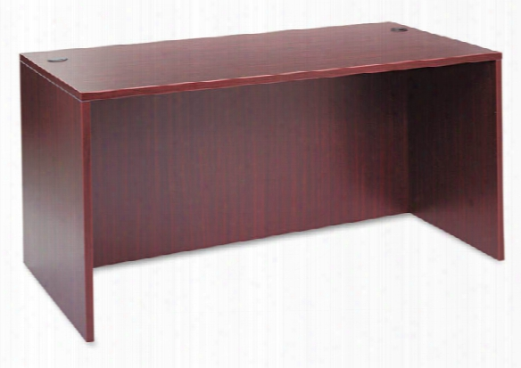 "59 1/8""w X 29 1/2""d X 29 1/2""h Straight Front Desk Shell By Alera"