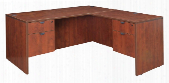 "60"" Double Pedestal L-desk With 35"" Return By Regency Furniture"