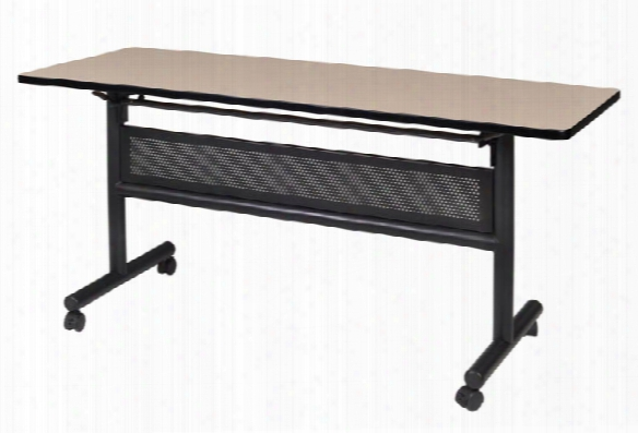 "60"" Flip Top Mobile Training Table With Modesty By Regency Furniture"