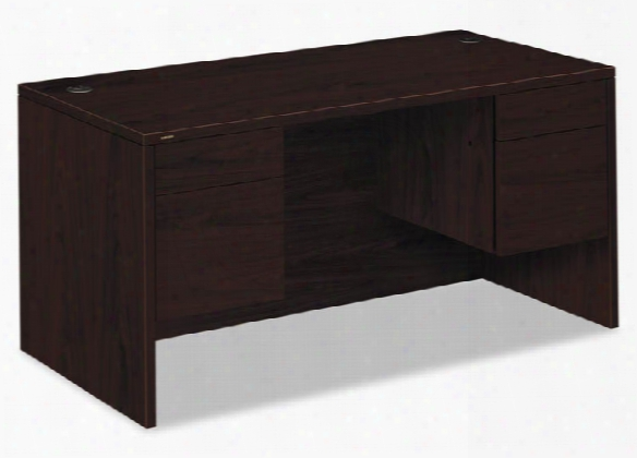 "60""w X 30""d X 29-1/2""h, 3/4-height Double Pedestwl Desk By Hon"