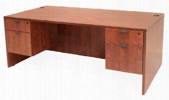 """66"""" Double Pedestal Desk By Regency Furniture"""