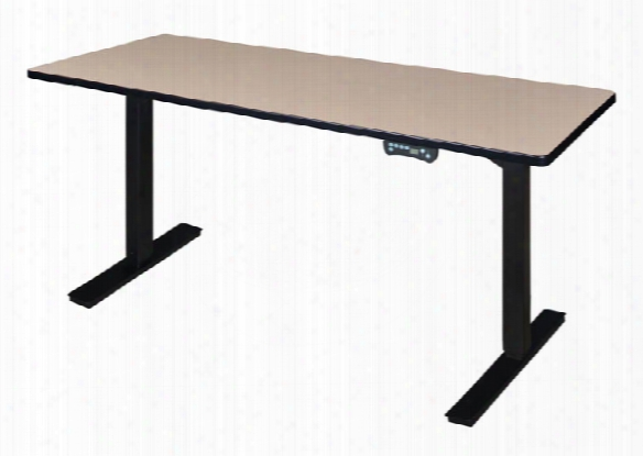 "66"" X 24"" Height-adjustable Power Desk By Regency Furniture"