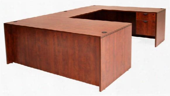 "71"" Double Pedestal U-desk With 47"" Bridge By Regency Furniture"