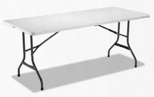 "71""w X 30""d X 29""h Fold-in-half Resin Folding Table By Alera"