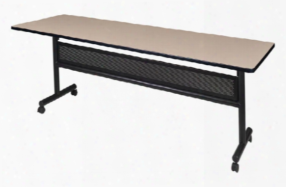"84"" Flip Top Mobile Training Table With Modesty By Regency Furniture"