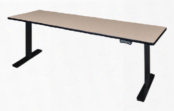"84"" X 24"" Height-adjustable Power Desk By Regency Movables"