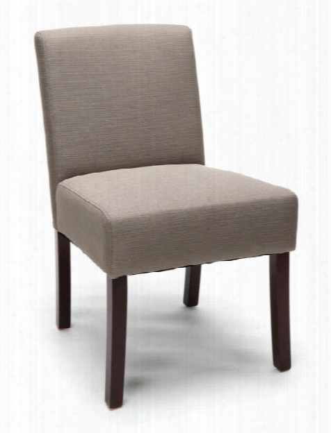 Armless Guest Chair With Wooden Legs By Essentials