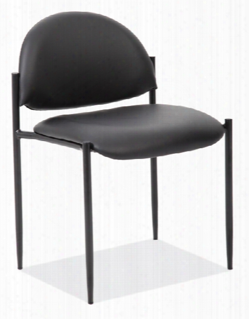 Armless Stacking Side Chair With Black Frame By Office Source