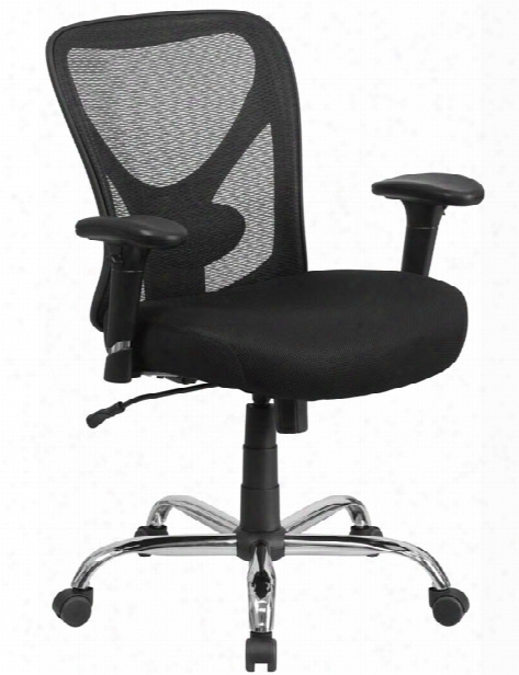 Big & Tall Black Mesh Swivel Chair By Innovations Office Furniture