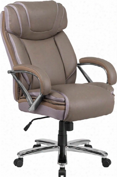 Big & Tall Leather Executive Swivel Chair By Innovations Office Furniture