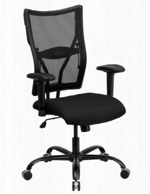 Big & Tall Mesh Executive Swivel Chair With Adjustable Arms By Innovations Office Furniture