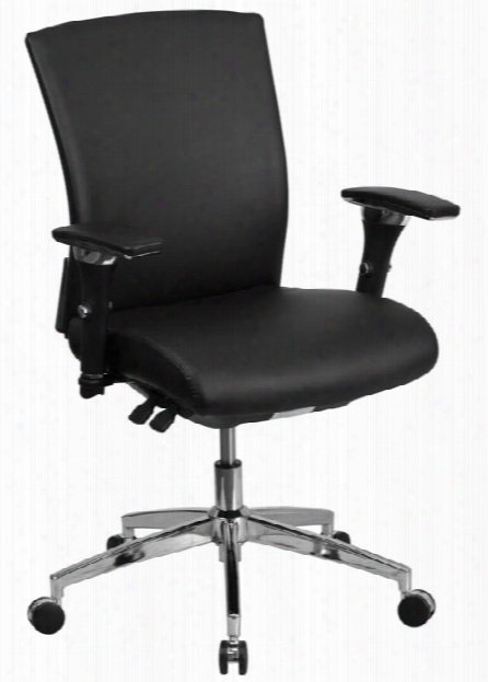 Big & Tall Mid-back, Executive Leather Chair By Innovations Office Furniture