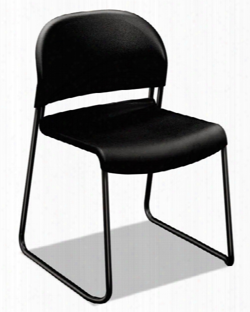 Black With Black Finish Legs Guest Chairs - 4/pk By Hon