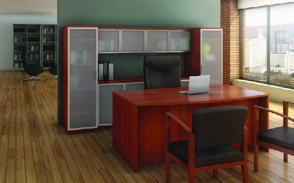 Bow Front Desk With Storage By Office Source