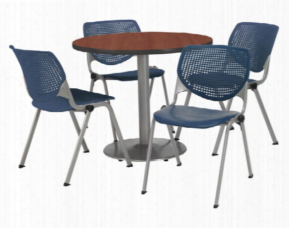 Cafeteria Table With 4 Chairs By Kfi Seating