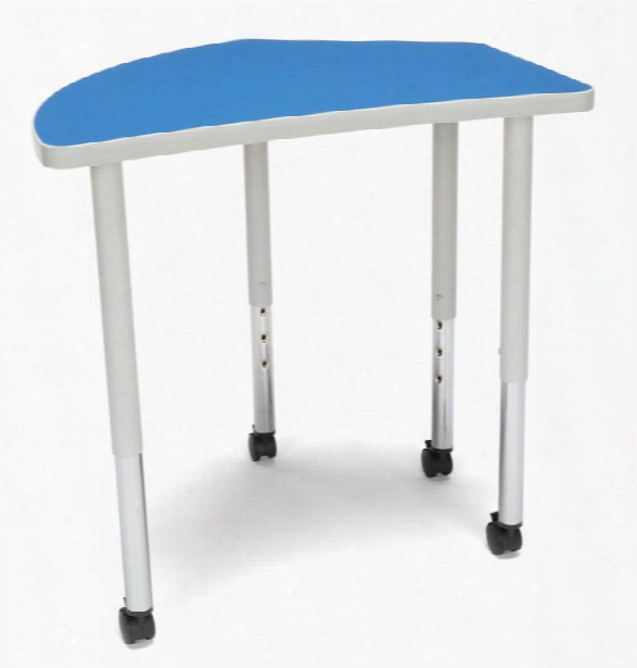 Crest Large Leg Table With Casters By Ofm