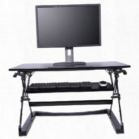 Desktop Mounted Lifting Workstation, With Adjustable Keyboard By Alera