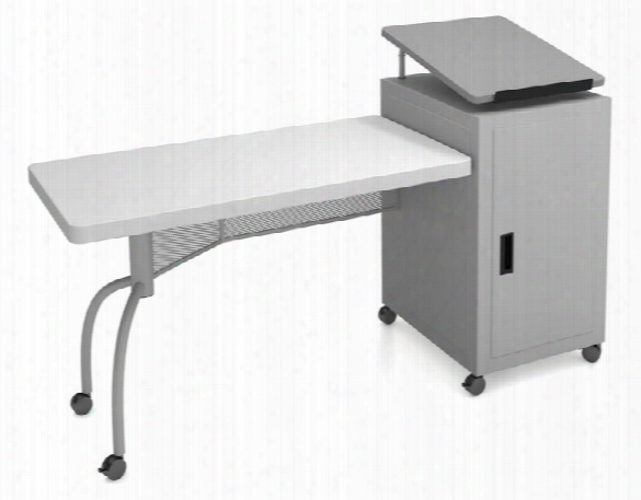 Edupod Teachers Desk & Lectern Combo By National Public Seating